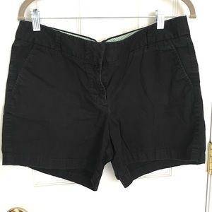 J. Crew Chino shorts women's size 12 black